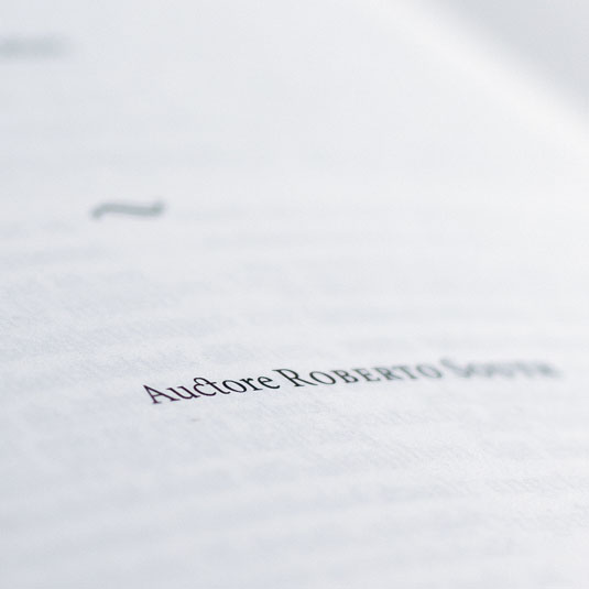 A beautiful ligature of the letters _c_ and _t_ on the title page of the poem.