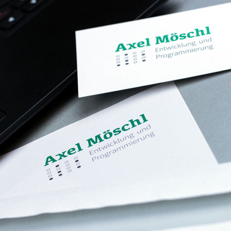 Letter head and business card.